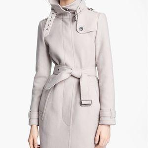 Burberry grey/beige wool coat SIZE 6